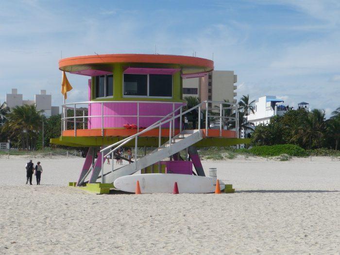 Poste de sauveteurs à Miami Beach