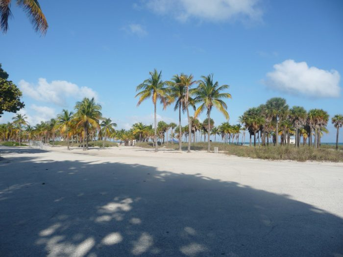 Plage de Crandon Park à Key Biscaine