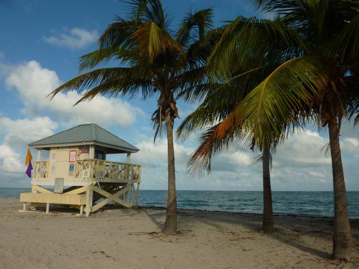 Plage de Crandon Park Beach à Key Biscayne