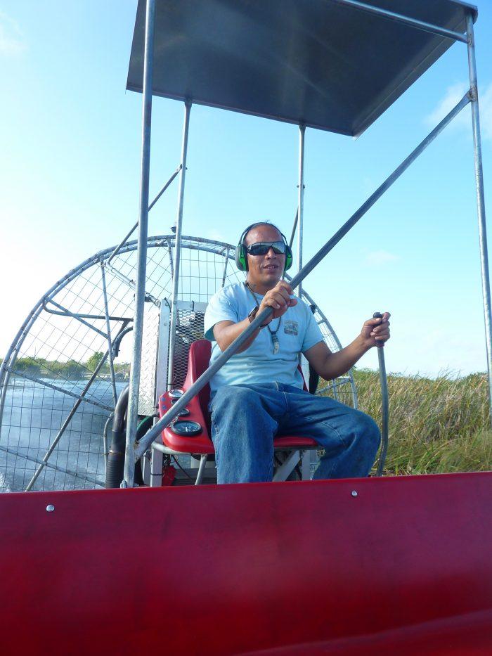 Pilote et guide de notre Airboat.