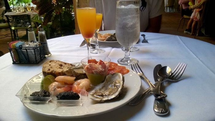 Assiette fruits de mer et caviar