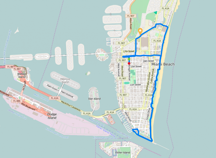 Parcours à South Beach