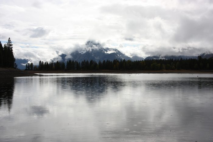 Vue de Jackson Lake depuis la Colter Bay Marina