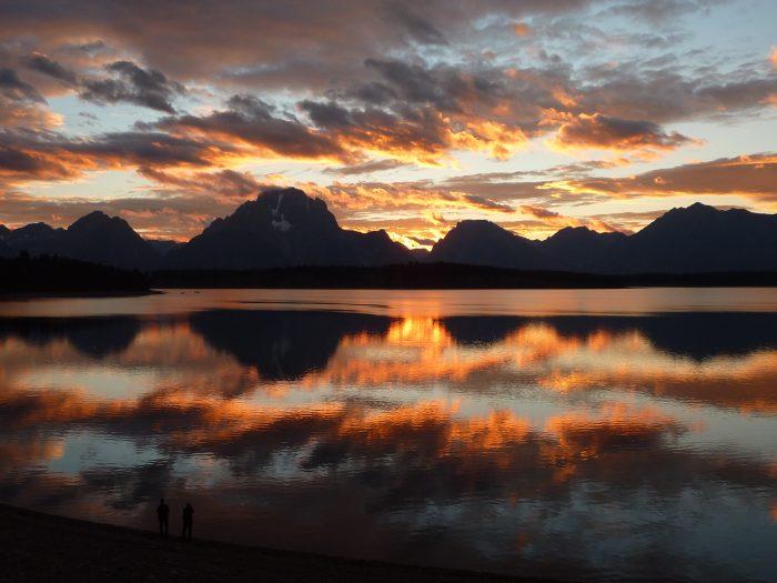 Coucher de soleil sur le Jackson Lake