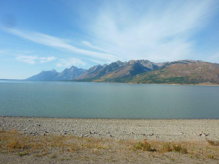 Point de vue sur les sommets et le Jackson Lake