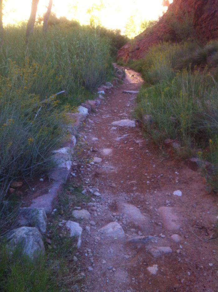 A l'approche d'Indian Garden