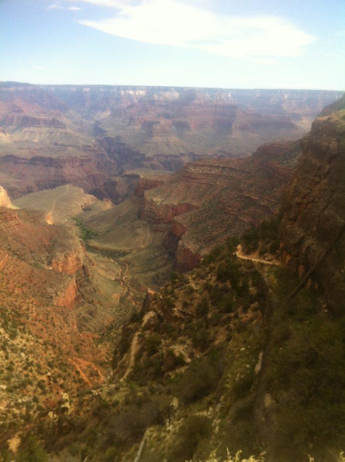 A quelques encablures du sommet... le Grand Canyon est vraiment merveilleux