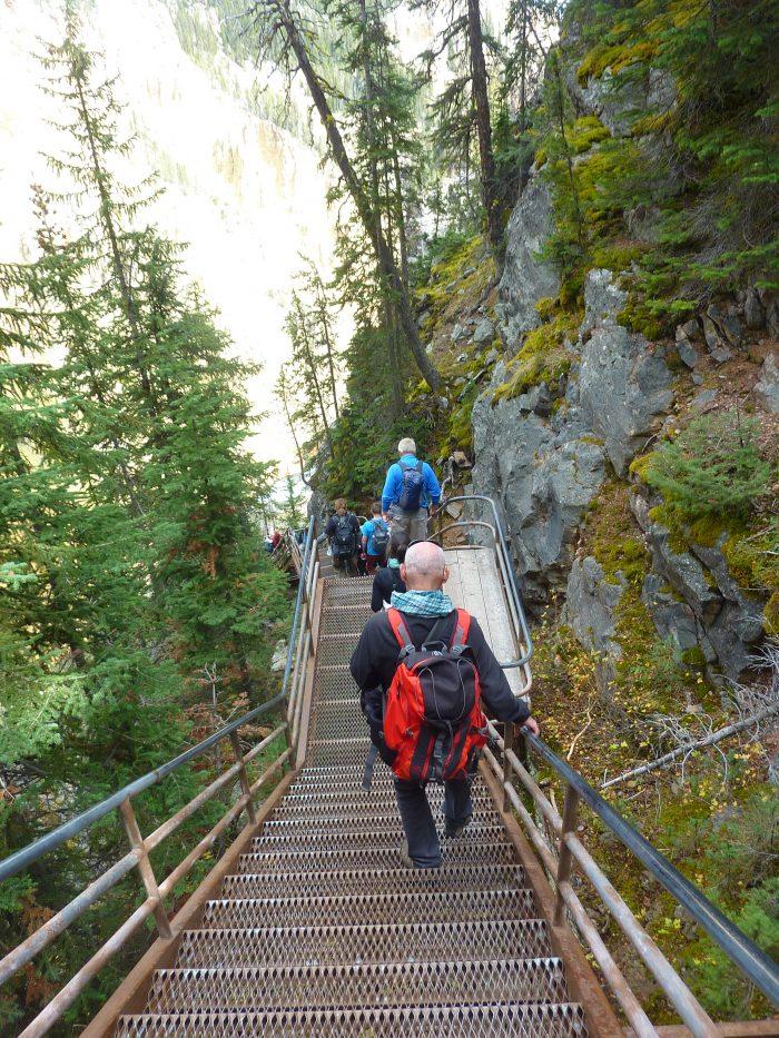 Les escaliers de l'Uncle Tom's Trail